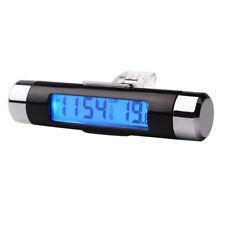 2-in-1 Vent Outlet Car Blue LED Backlight Reloj de temperatura y termometro U4H2