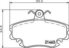Mintex Plaquettes Frein Avant MDB1628-Brand new-genuine-Garantie 5 an