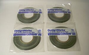"""*NEW* Oasis Design Works 1610-I Green Waterproof Tape 1/4"""" X 60 yd. (Qty 4)"""