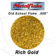 NEW Metal Flake Auto GOLD GLITTER (0.008) CUSTOM PAINT FLAKES 30grams 1oz RETRO