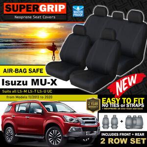 SuperGrip Neoprene Seat Covers Isuzu MU-X LS-M LS-T LS-U UC 2ROWs 11/2013-20 MUX