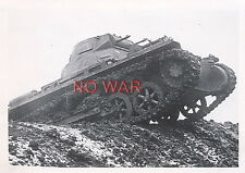 WWII ORIGINAL GERMAN WAR PHOTO PANZER / TANK ON MARCH