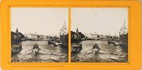 FRANCE Paris Exposition Universelle 1900 Pont De L'Alma Photo Stereo PL60L1