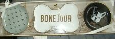DogHaus 3 Pc Bone Jour French Bulldog Catch All Trays ~ Gift Set ~ Nwt
