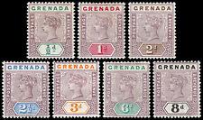 Grenada Scott 39-45 (1895-99) Mint H VF, CV $106.25