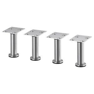"""Ikea Capita Legs, 4 1/2"""", stainless steel, NEW"""