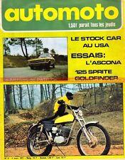 AUTO MOTO JOURNAL   8 SPRITE 125 MCB AJS OPEL ASCONA 1600 Borje JANSSON 1971