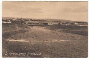 Dorset; Dorchester, Roman Encampment PPC, 1915 PMK, To Miss Bailey, Tolpuddle
