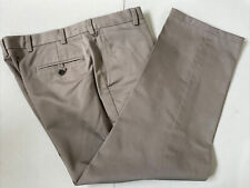 Jos.A.Bank Men's Gray Solid Cotton Dress Pants 38X27 $125