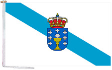 More details for galicia spain flag with rope and toggle - various sizes