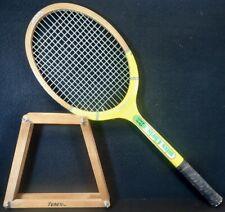 Vtg. WILSON Miss Chris Evert Wooden Tennis Racquet 4 3/8 & Tenex Bracket