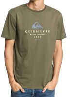QUIKSILVER MENS T SHIRT.NEW FIRST FIRE ARMY GREEN COTTON SHORT SLEEVED TOP S20 1