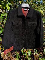 CHICO's Black Paisley Tapestry Brocade Floral Jacket Blazer Womens Sz 1 Med 8 10