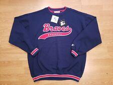 Vintage Starter 90s Atlanta Braves Crewneck Retro Throwback Maddux Mens Size XL