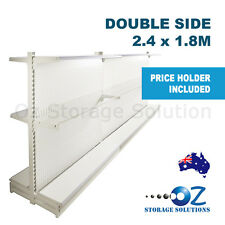 1.8m H x 2.4m W Double Sided Retail Gondola Supermarket Shelving Shop Display