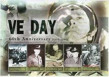 Lesotho 2005 MNH WWII WW2 VE Day World War II Eisenhower Patton 5v M/S Stamps