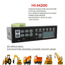 Bluetooth USB AUX 24v Excavator Radio With FM Transmitter Tractor Construction