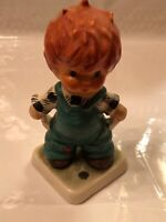 "Goebel Redhead Figurine by Charlot,Plenty of Nothing"" Byj27,4.25"" 1958 Preowned"