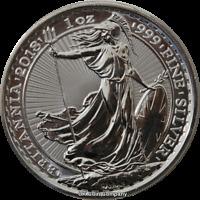 2018 Britannia 1 oz Fine Silver Bu £2 Two Pounds Coin