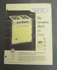 Vintage Sales AD PRINCESS Model 880 flyer oven stove marine  galley apartment LA