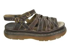 DR. MARTENS Brown Leather Slingback Fisherman Sandals UK 9 / US Women's 11