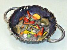 Superb Vintage French Daniel Chazelas, Limoges, Copper & Enamel Dish