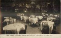 New York City Luchow's German Restaurant 14th St. c1910 Real Photo Postcard #1