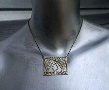 SILPADA Brass Chevron Boho Pendant Necklace RARE!!