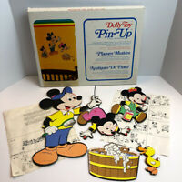 Disney Mickey Mouse Vintage Nursery Wall Plaque Pin-Up Dolly Toy Decor