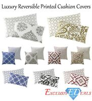 Luxury Damask Paisley Printed Cushion Covers Reversible 45cm x 45cm, 30cm x 50cm