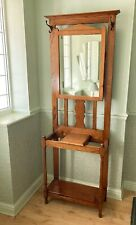 More details for wood hall coat / umbrella stand / mirror and drawer