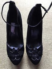 Black Cat Office High Heels With Gold Base Size 6