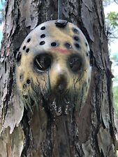 Jason Voorhees Half Cracked Mask No Blood Hand Painted -Friday The 13th