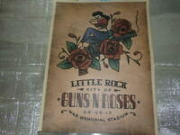 Guns N'Roses Lithograph Little Rock Performance 2017 Limited 250 Used