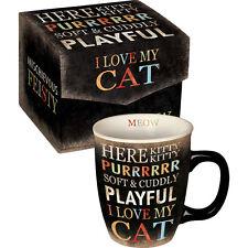 Carson Homes Coffee Mug Cup 14 oz Ceramic I Love My Cat in Decorated Box