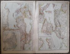 1900's colonial empire Cassell's world atlas sheet - Mediterranean east and west