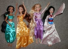 "Disney Princess 17"" Singing Dolls  Mulan,Belle, & Tangled ,Jasmine LOT 4 doll"