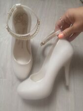 Vivienne Westwood Anglomania Melissa Bridal Court Shoes Pearls Eur 38 Size 5