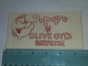 "Tijuana Bible {#18} ""Popeye In Olive Oyl's Surprise"" Comic Strip Risque"