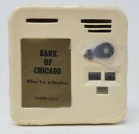 Vintage Bank of Chicago Toy Bank Calendar Locking 1950s