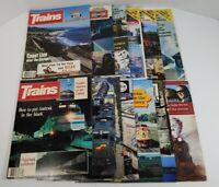 Trains The Magazine Of Railroading Lot Of 12 1986