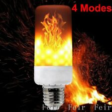 E27 Fire Effect LED Flame Simulated Bulb Lamp Flicker Decorative Light 4 Modes