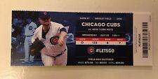 2016 Chicago CUBS Season Ticket Stub July 20, 2016 - Anthony RIZZO HR