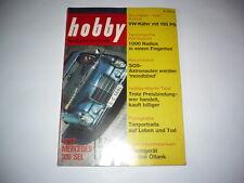 Rivista HOBBY 03.04.1968 insegne MERCEDES 300 SIMCA 1100 VW Maggiolino Audi 60 SAAB 37