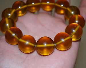 old tibetan baltic amber bracelet mala worry natural prayer beads butterscotch
