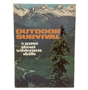 Vintage Avalon Hill Bookcase Game - Outdoor Survival - 1972 Board Game COMPLETE