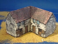 A4 Painted Farm buildings 15mm. For wargames scenery and terrain buildings,