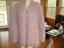 Yoana Baraschi~Rose Quartz Vegan Mongolian Swing Faux Fur Jacket/Coat~M~N/W/T