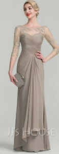 Mother of the bride, Long dress size 10, A line with Cascading Ruffle