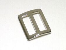 10 Schieber Taschenschieber 15mm silber Metall Stopper Gurtversteller gewölpt